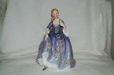 "Vintage Royal Doulton England Nicola in Purple w/ Bird 8.25"" Figurine"