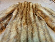 NICE GOLDEN LIGHT BROWN CANDAIAN SABLE FUR COAT / JACKET SIZE LARGE 10