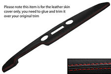 RED STITCH PRE AIRFLOW TOP DASH DASHBOARD LEATHER COVER FITS FORD CORTINA MK1