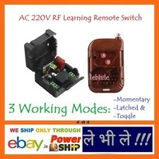 E93 Programmable Multiuse AC 220V Volt 1 Way Channel RF Learning Remote Switch