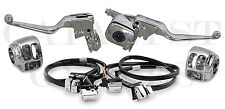 "COMPLETE CHROME HAND CONTROLS WITH CHROME SWITCHES FOR HARLEY 96-06 (48"" WIRES)"