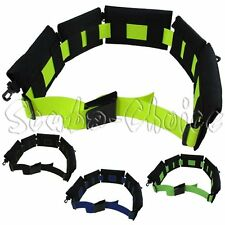"Scuba BC Replaceable 5 Padded Pouch Weight Belt w/ 60"" Webbing (Blue)"