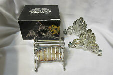 Silver Plated Buffet Caddies, 3PC,  Silverware Holder, Holds 36 Pieces w/box