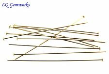 50 ea 14k GOLD FILLED HEAD PINS 26 ga 2""