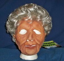OLD WOMAN GRANDMA GRANNY SOFT LATEX MASK WIG COSTUME 9003BS