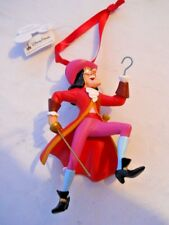 DISNEY PARKS CAPTAIN HOOK CHRISTMAS ORNAMENT PETER PAN RESIN NEW WITH TAGS