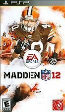 Madden NFL 12 UMD PSP GAME SONY PLAYSTATION PORTABLE 2K12 2012 FOOTBALL