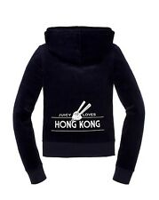 JUICY COUTURE DESTINATIONS HONG KONG REGAL VELOUR HOODIE XL 14 16 £120!