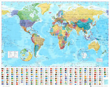 World Map Collections Mini Poster Print, 19.5x16