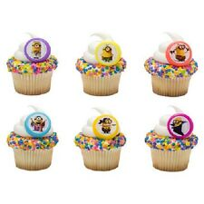 Despicable Me Minions Evolution cupcake rings cake decoration topper favors NEW