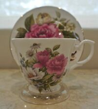 VINTAGE CUP AND SAUCER  BETHANY MADE IN STAFFORDSHIRE ENGLAND, FINE BONE CHINA