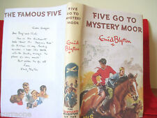 Enid Blyton Famous FIVE GO TO MYSTERY MOOR 1st edition 1954 HC copy jacket