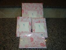 NEW Pottery Barn Kids Lara FULL/QUEEN DUVET COVER+SHAMS+BOLSTER COVER Pink 4 pcs