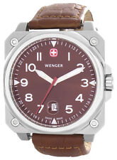 Men's Wenger AeroGraph Cockpit Brown Dial Brown Strap Watch 72423