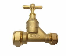 Brass 20mm MDPE x 15mm Copper Stopcock Valve