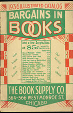 The Book Supply Co 1936 Illustrated Chicago Store Catalog 1930s Novel Mail Order