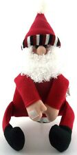 Plush SANTA Wine Bottle Gift Decoration Velcro Hands Feet Wrap Around Packages