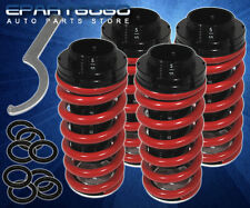98-02 HONDA ACCORD JDM RED LOWERING COIL SCALED COILOVER SPRINGS BLACK SLEEVES