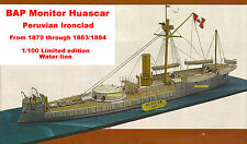1/100 Ironclad Huascar 1873 Naval Combat Peru Chile Paper Model Huge Ship Art