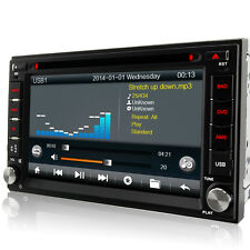 A-Sure Double 2 Din GPS DVD Player sat nav WiFi stereo Bluetooth 3G USB FM Radio