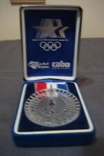 NEW 1984 LOS ANGELES OLYMPICS WATERFORD CRYSTAL SOUVENIER MEDALION