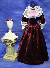 Barbie Elizabethan Renaissance dress with hat clothes fits Silkstone deboxed CE