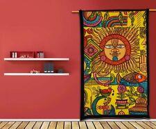 Etnico sole Arazzo Hippy TOVAGLIA Muro Appeso Arredamento Indiano ARTE Lenzuolo