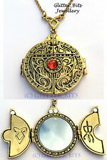 THE MORTAL INSTRUMENTS GOLD PORTAL DOOR NECKLACE SHADOWHUNTER CLARY JACE OPENING