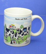 2001 collectible cow mug Dr. Nurse Dairy Farmer Sherwood brands