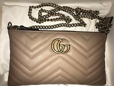 New Gucci GG Marmont Mini Chain Bag, Nude Matelassé leather $795.00