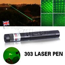 High Power 1mw 303 Green Pointer Laser Pen Adjustable Focus 532nm Burning Lazer
