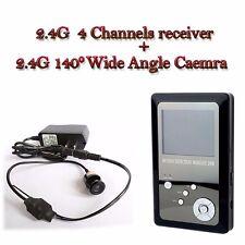 """2.4 G sans fil 140 degrés mini caméra+2.7""""pouce 4 Canaux Portable moniteur DVR"""