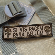 SI VIS PACEM PARA BELLUM PUNISHER USA TACTICAL ISAF MORALE SWAT PATCH