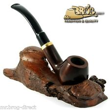 "Mr.Brog original smoking pipe nr 18 brown classic "" HORN ""  HAND MADE IN EUROPE"