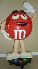 """Red M&M Candy Character Store Display on Wheels M and M Advertising 42"""" Tall"""