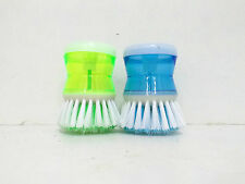 Cleaning Brush with Soap Dispenser (Set of 2 Pc) for Kitchen Sink Dish Washer