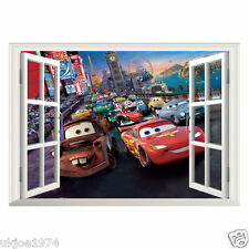 Disney Cars Wall Sticker Kids Room Lightning McQueen Art Wall Decal Home Decor