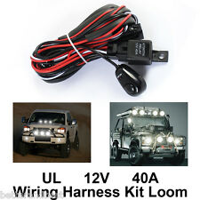 12V 40A Relay Switch Control Wiring Harness Kit For LED Work Driving Light Bar
