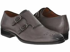 Mezlan Men's Gris Medallion Toe Double Monk Loafers, Size US 11 M Made in Spain