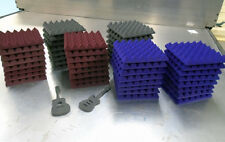 "48 Tiles 12""x 12""x 2"" Thick StudioFoam Acoustic Soundproofing Pyramid Foam"