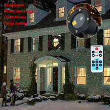 Party Star Light RED GREEN Shower Laser LED MOTION Projector Garden Waterproof