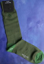 Hackett Mayfair London Mens Silk Socks Sz SM Medium Hackett Logo Green HMU50249