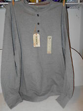 Outdoor Life Wilderness Sueded Henley - Long Sleeve Grey Shirt - Mens Large