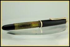 PELIKAN 400 NN Brown Tortoise Fountain Pen Gold Nib EF 14C 585 Germany 1950