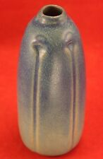 """Early VAN BRIGGLE Pottery 1918 Arts and Crafts 6"""" Vase - Signed - Lt to Dk Blue"""