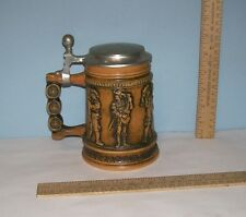 GERZ Lidded BEER STEIN - Featuring Vintage MUSICIANS - GERZ W. GERMANY - chips