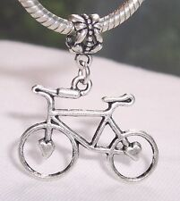 Large Bicycle Bike Cycling Charmadillo Dangle Bead for European Charm Bracelet