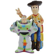 Disney's Toy Story Buzz & Woody Ceramic Salt and Pepper Shakers Set, NEW UNUSED