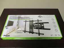 """KANTO PX600 FULL MOTION LOW PROFILE TV MOUNT FITS 37"""" to 75"""" TV UP TO 125 LBS."""