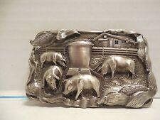 1984 Bergamot Brass Works Hog Farm/Pig Belt Buckle